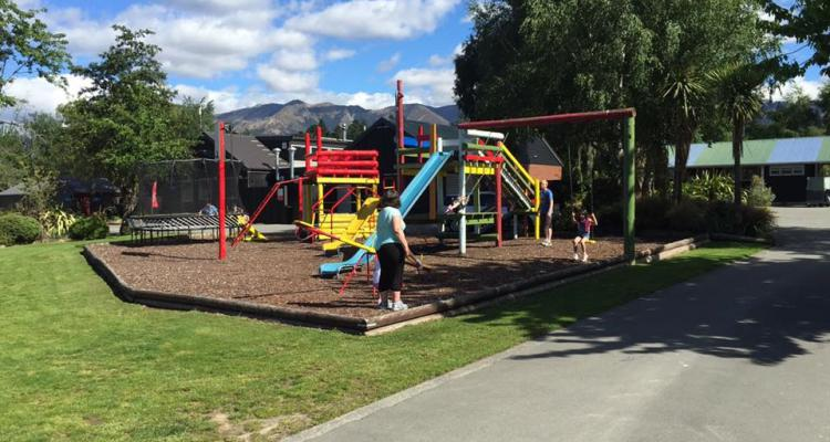 Enjoying summer in playground at Hanmer Springs TOP 10 December 2016