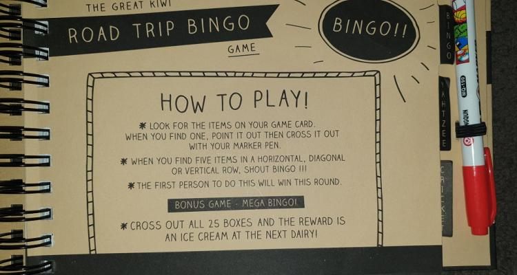 Road trip bingo how to play